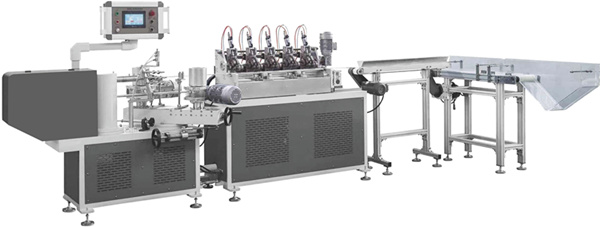 High speed paper straw machine